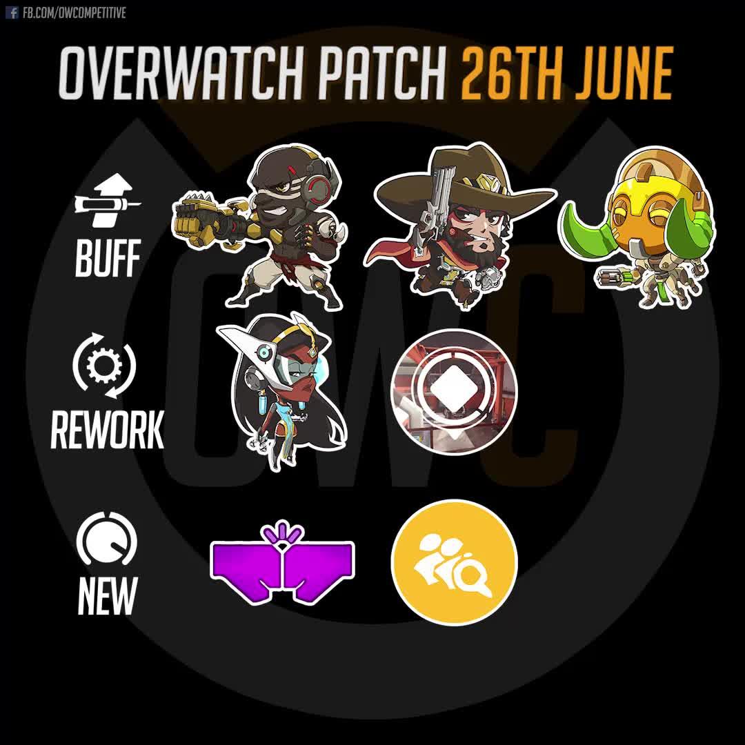 doomfist, highlight, mccree, overwatch, patch, symmetra, Overwatch Patch 26th June 2018 GIFs
