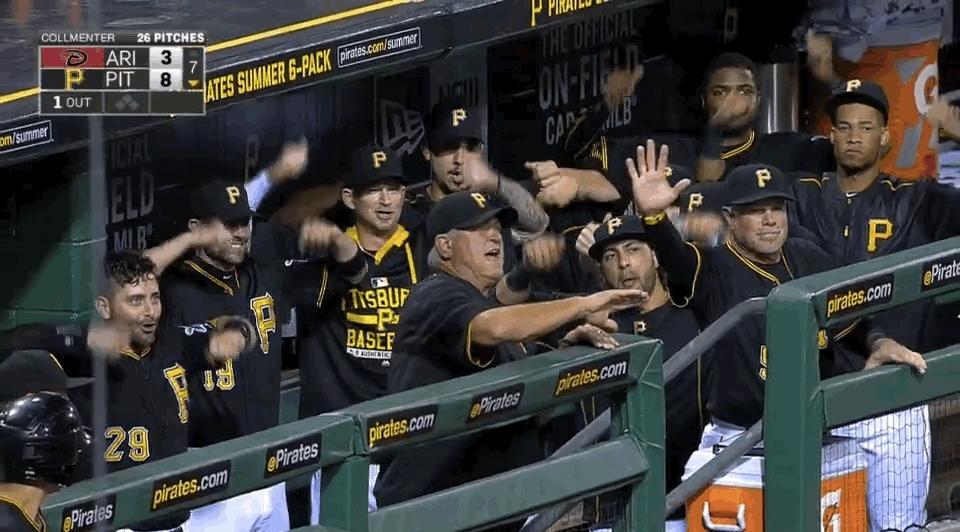 baseballgifs, mlb, Kang home run celebration GIFs