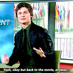 Watch Ansel Elgort GIF on Gfycat. Discover more **, 1k, 2015, ansel elgort, anselelgortedit, gifs, interview, today show GIFs on Gfycat