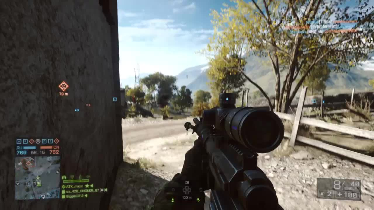 #PS4share, ATX max, Battlefield 4, Gaming, PlayStation 4, Sony Interactive Entertainment, bf4, headshot, sniper, Battlefield 4 Epic/Lucky 2 in 1 double headshot GIFs