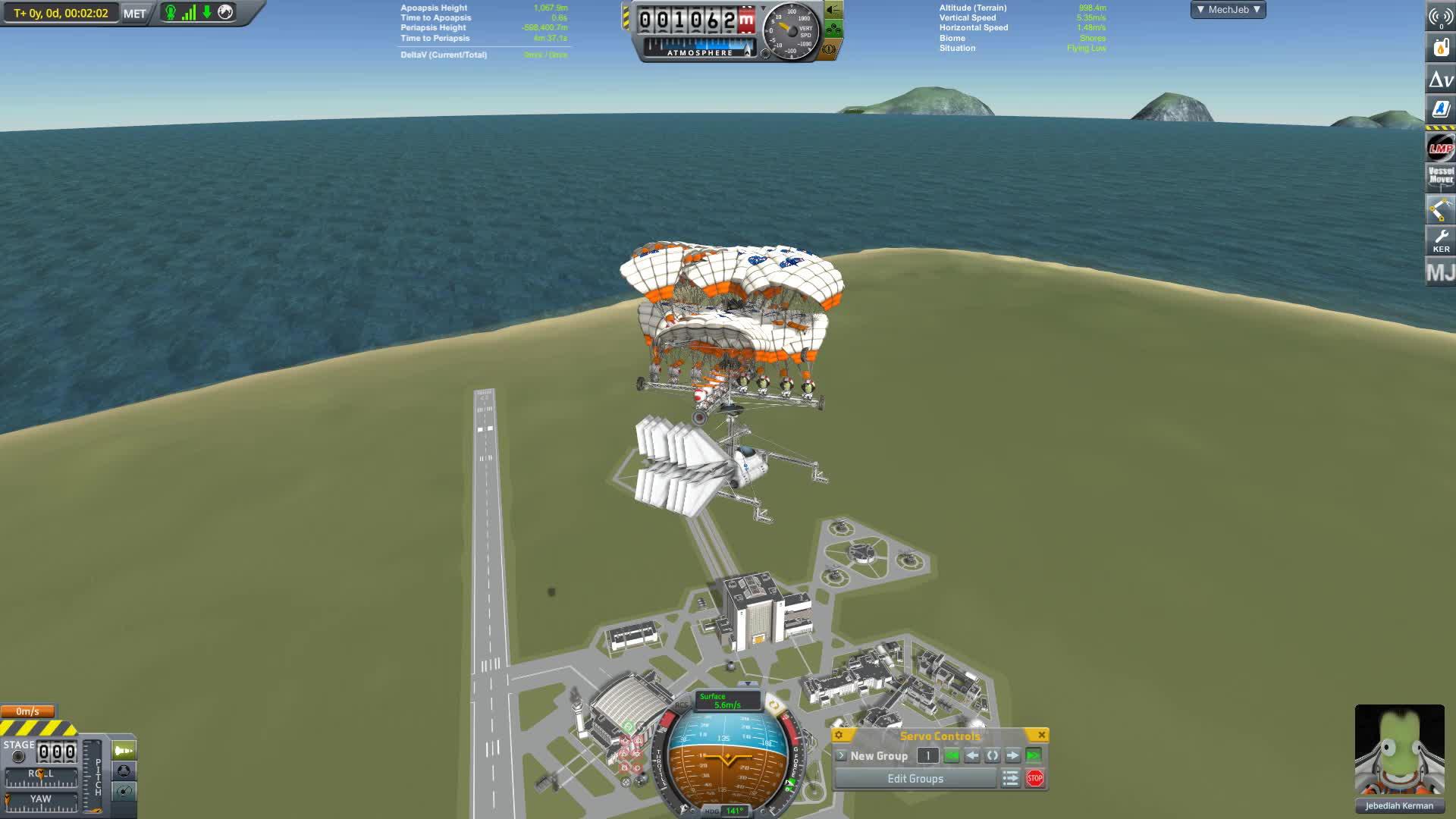 chutacopter, helicopter, jatwaa, kerbal space program, mod, modded, mods, ChutaCopter v2 GIFs