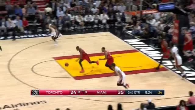 Watch and share Delon Wright Drive And Kick GIFs on Gfycat
