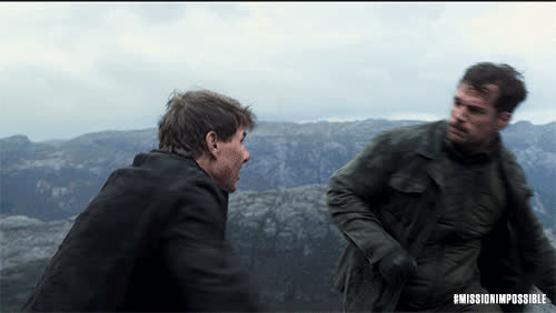 MissionImpossible360, action, blockbuster, epic, henry cavill, m.i., mission: impossible, missionimpossible, movies, paramount pictures, tom cruise, Henry Punching Tom GIFs