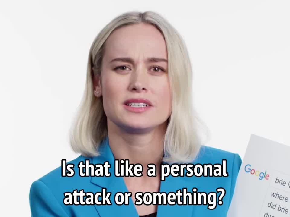 brie larson, captain marvel, feminism, feminist, insult, offended, personal attack, sjw, triggered, Brie Larson - Is that like a personal attack or something GIFs