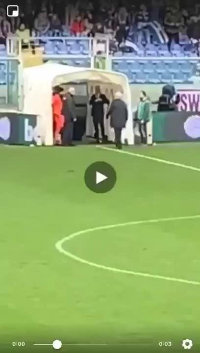 Watch and share Atalanta Coach Gian Piero Gasperini Shoving Sampdoria Secretary General Massimo Ienca GIFs on Gfycat
