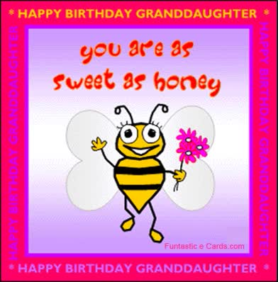 Watch and share Birthday Card Granddaughter Bee GIFs on Gfycat