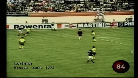 Watch and share Peter Lorimer. Scotland - Zaire. 1974 GIFs by fatalali on Gfycat