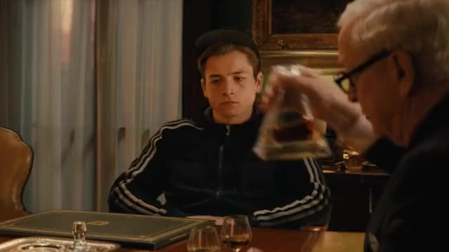 Watch and share Michael Caine GIFs and Taron Egerton GIFs on Gfycat