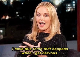 charlize theron, interview, jimmy kimmel, my gifs, obama, president obama, strip club, Emily Blunt + original GIFs GIFs