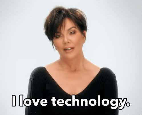 Watch and share Kris Jenner GIFs and Technology GIFs by Reactions on Gfycat