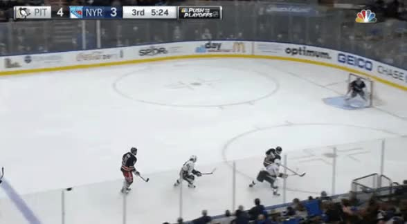 Watch and share Dan Girardi Dumps The Puck Vs Pittsburgh GIFs by herman_nyrblog on Gfycat