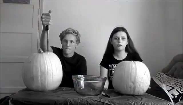 Watch and share Pumpkin Carving With Charlie! GIFs on Gfycat