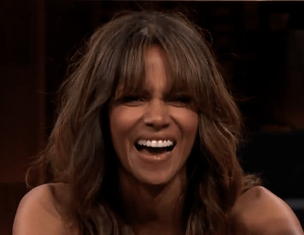 Halle Berry, jimmy fallon, laughing, lol, tonight show, Halle Berry LOL GIFs