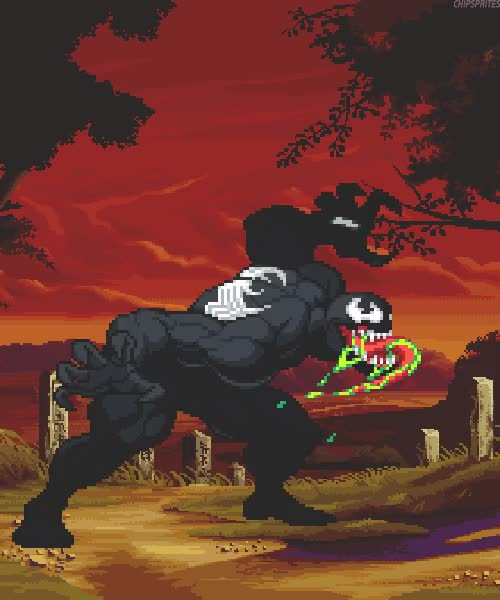 Watch and share Gif Comics Pixel Art Marvel Pixel Venom Pixel Gif Comics Gif GIFs on Gfycat
