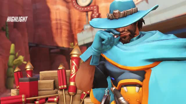 Watch McCree GIF by @kunstpause on Gfycat. Discover more ana, highlight, mei, overwatch GIFs on Gfycat