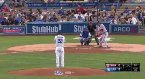 Watch and share Clayton Kershaw First Changeup To Wilson Ramos GIFs by jsulliv6 on Gfycat