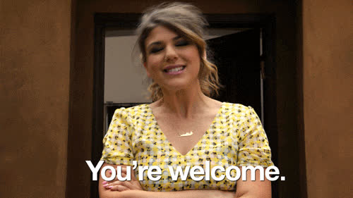 you'rewelcome, yw, you're welcome GIFs