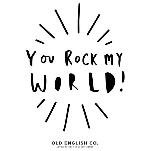 Watch and share You Rock My World Typography Grande GIFs on Gfycat