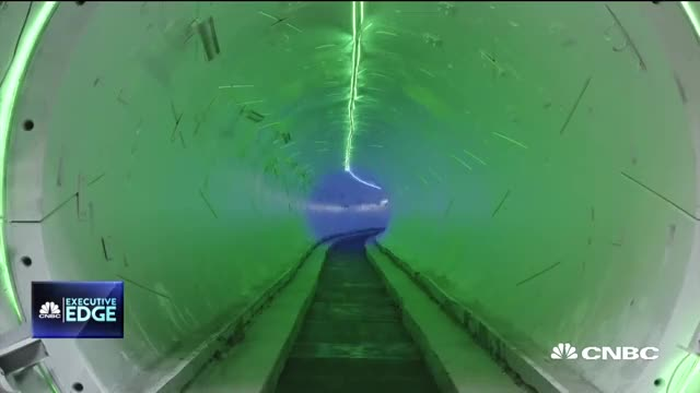 Elon Musk unveils Boring Company loop tunnel for electric cars GIF