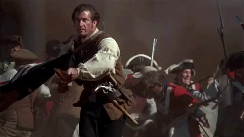 Watch and share Let's Remember July 4, 1776 As The Day Mel Gibson Impaled Every British Redcoat With A Flag. GIFs on Gfycat