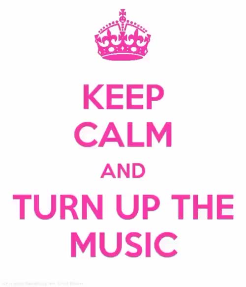 Watch and share Turn Up The Music GIFs and Keep Calm Music GIFs on Gfycat