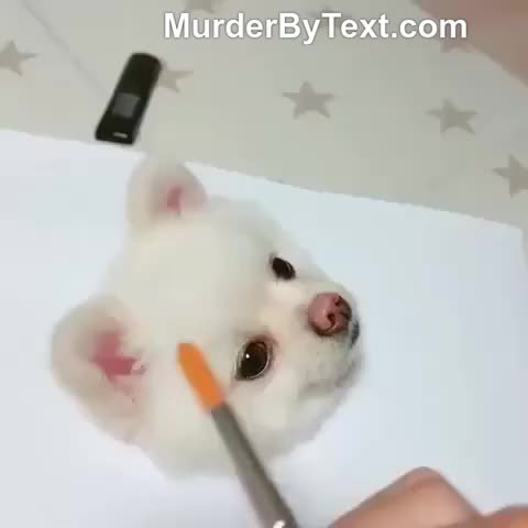 Watch and share Incredibly Realistic Painting Of A Pupper GIFs by Murder By Text on Gfycat