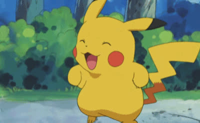 adorable, celebrate, cute, excited, happy, jump, pikachu, pokemon, sweet, Excited Pikachu GIFs