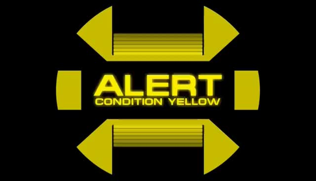Watch and share Star Trek Yellow Alert Screen GIFs on Gfycat