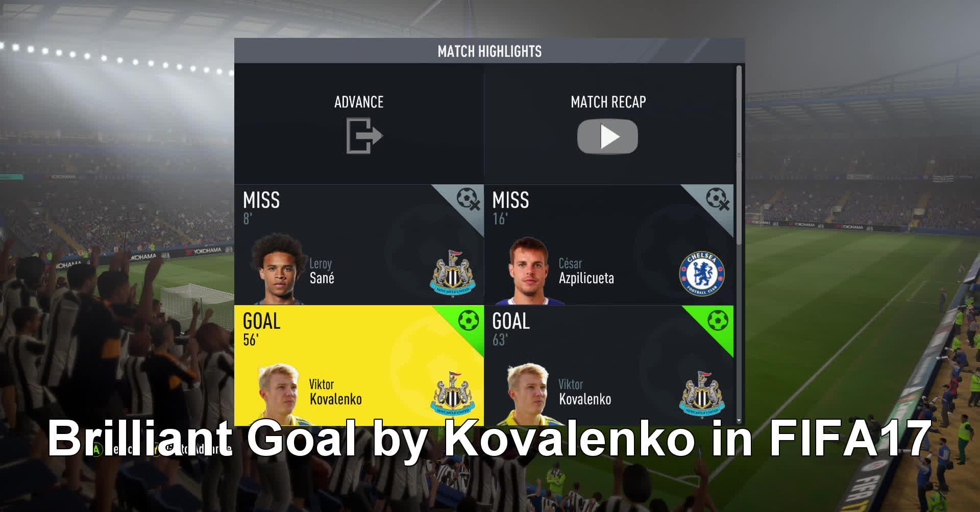 amazinggoal, fifacareers, kovalenko, Kovalenko Golazo - FIFA 17 GIFs