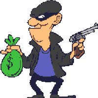 Watch and share Robber animated stickers on Gfycat