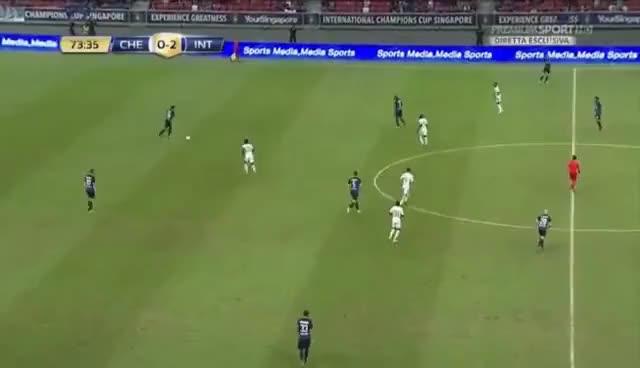 Watch and share Kondogbia Autogol CLAMOROSO Chelsea Inter 0-2 (29/07/2017) ICC GIFs on Gfycat