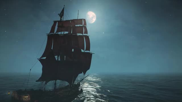 Watch this moon GIF by Alexander452 (@alexander452) on Gfycat. Discover more assasins creed, black flag, moon, nature, ship, water GIFs on Gfycat