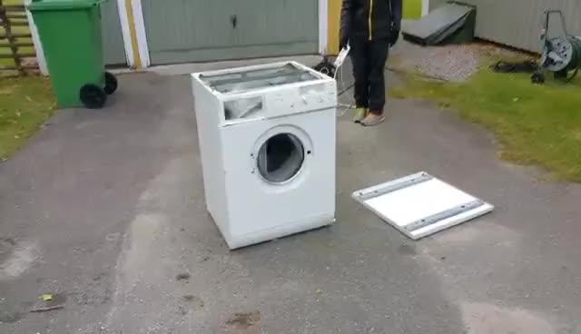 Watch and share Washing Machine Destruction GIFs on Gfycat