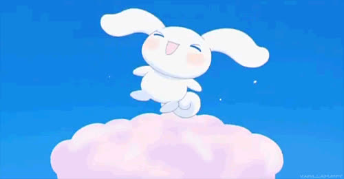 anime, bunny, celebrate, cute, excited, happy, jump, kawaii, party, sweet, Happy Kawaii GIFs