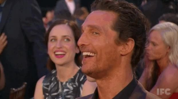 Watch and share Matthew Mcconaughey GIFs and Smiling GIFs by Reactions on Gfycat
