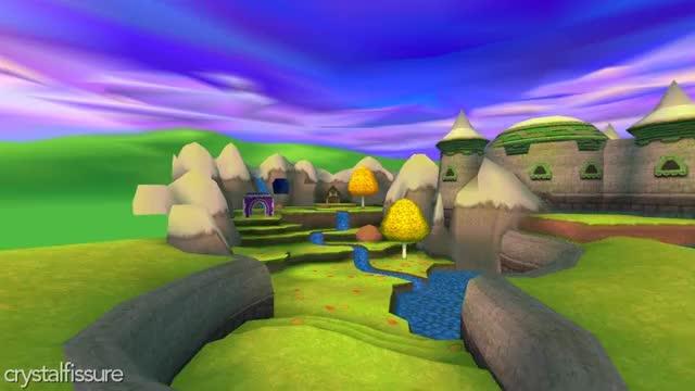 Spyro 3 Texture Hacks - Sunrise Spring GIF by