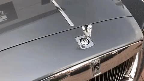 Rolls Royce hood ornament anti-theft device GIFs