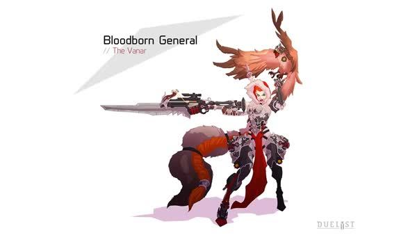 Duelyst - Concept art to Pixel art: Faction 6 General (reddit) GIFs