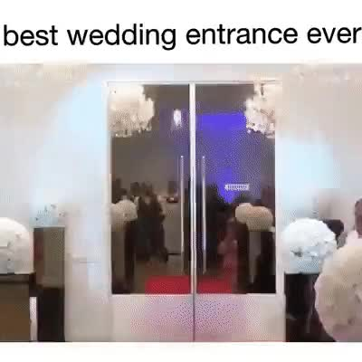 Watch Best Wedding Entrance Ever GIF on Gfycat. Discover more related GIFs on Gfycat