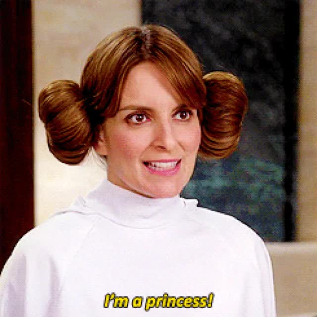 Watch and share Princess Leia GIFs and Tina Fey GIFs on Gfycat