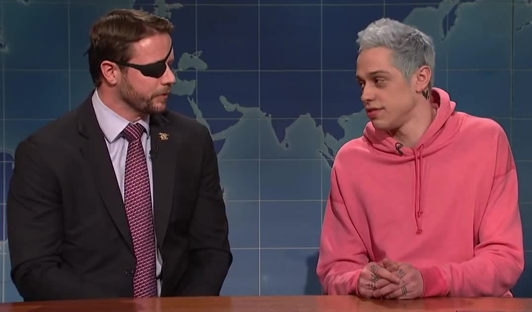 apology, best, bff, crenshaw, dan, davidson, friends, gracias, it's, live, night, ok, pete, saturday, snl, thank, thanks, update, weekend, you, Weekend Update: Pete Davidson Apologizes to Lt. Com. Dan Crenshaw - SNL GIFs