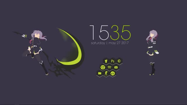 Watch and share Anime Rainmeter GIFs by sirjesse on Gfycat