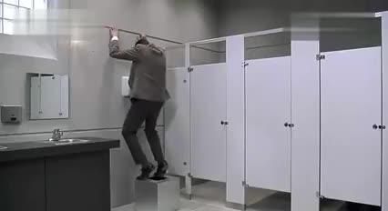 Mr Bean in toilet