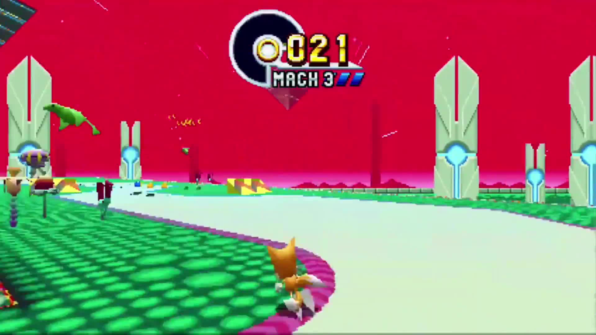 Sonic Mania: Tricking Special Stage 5 UFO GIFs