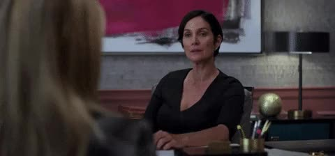 Watch and share Carrie Anne Moss GIFs and Shut Up GIFs on Gfycat