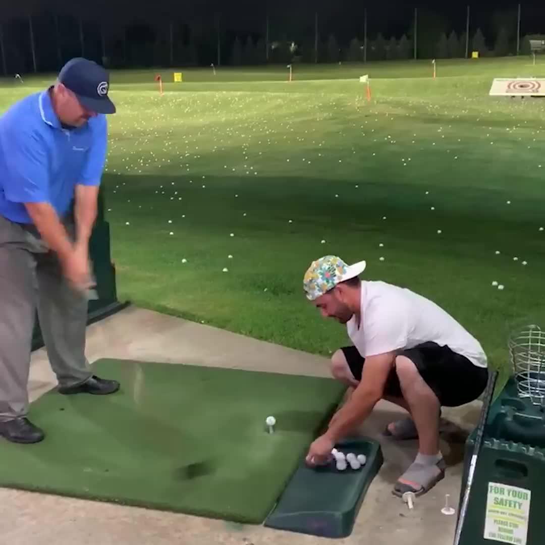 golf, golf swings, golfing, Hitting 15 Golf Balls in 15 Seconds😱 GIFs