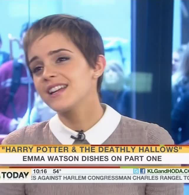Watch and share Emma Watson Today 2010 (1) New GIFs by ehstrdcfg on Gfycat