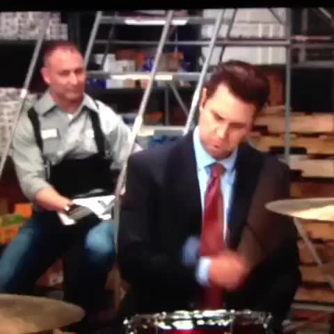 Watch How to win at a drum off #kevin #theoffice #tv #JimAndPam #the GIF on Gfycat. Discover more askreddit GIFs on Gfycat