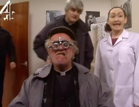 Watch and share Father Ted | Father Jack's Eye Test GIFs on Gfycat