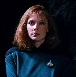 Watch and share If Looks Could Kill GIFs and Beverly Crusher GIFs on Gfycat